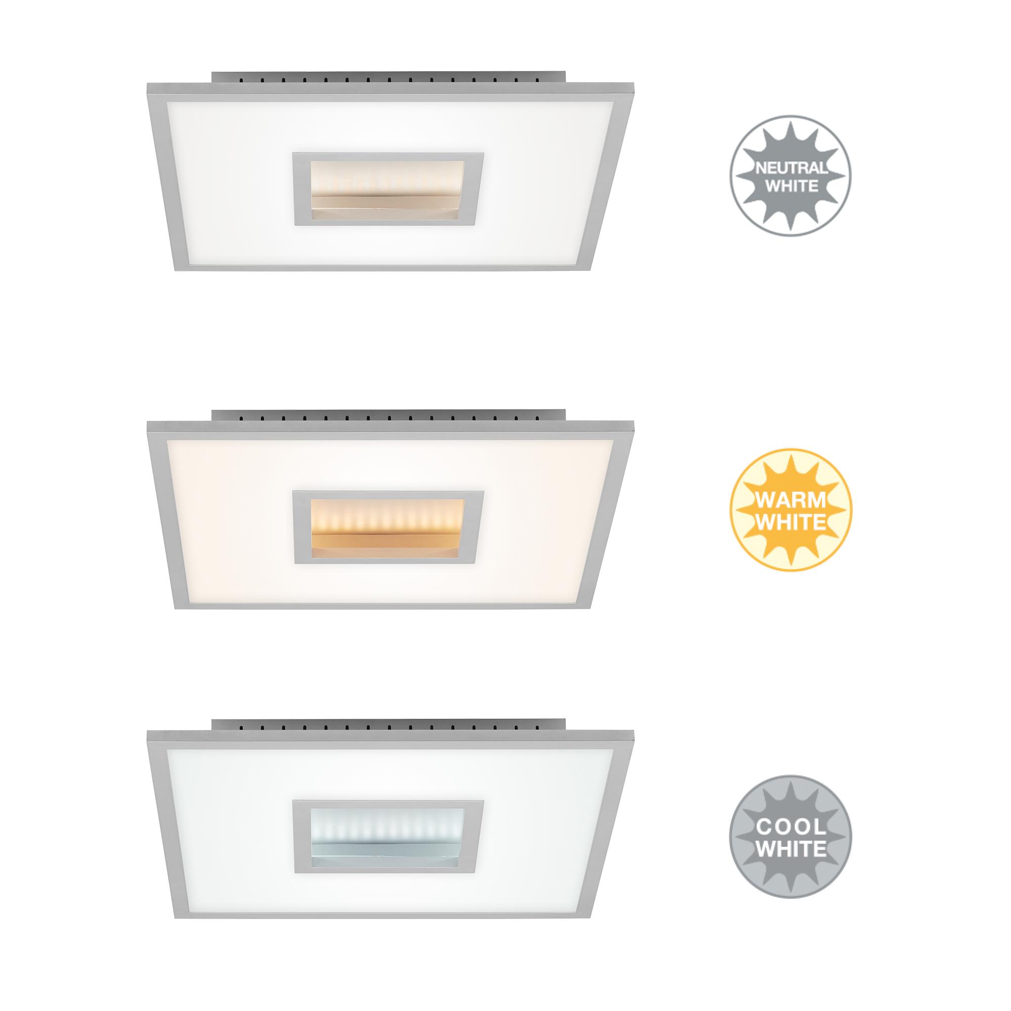 CCT LED Deckenleuchte, 45 cm, 26 W, Chrom-Matt