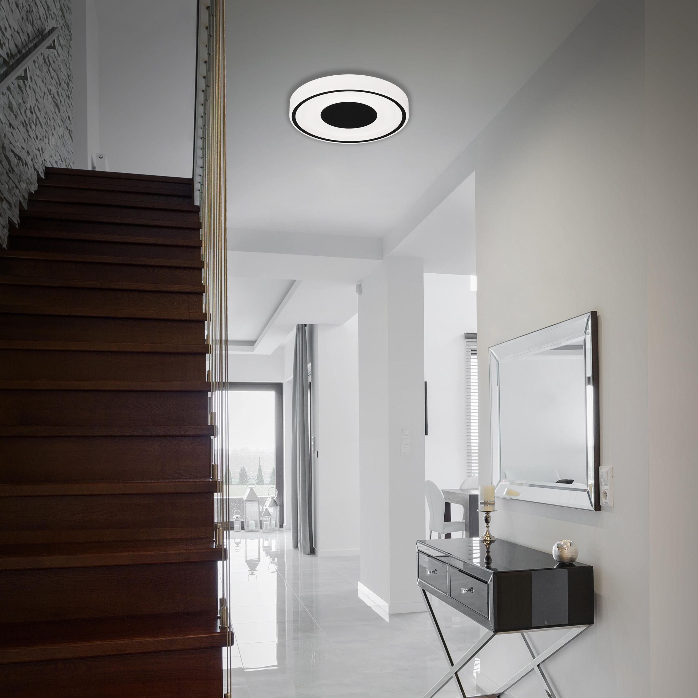 LED Deckenleuchte, Ø 38,5 cm, 18 W, Schwarz-Weiß