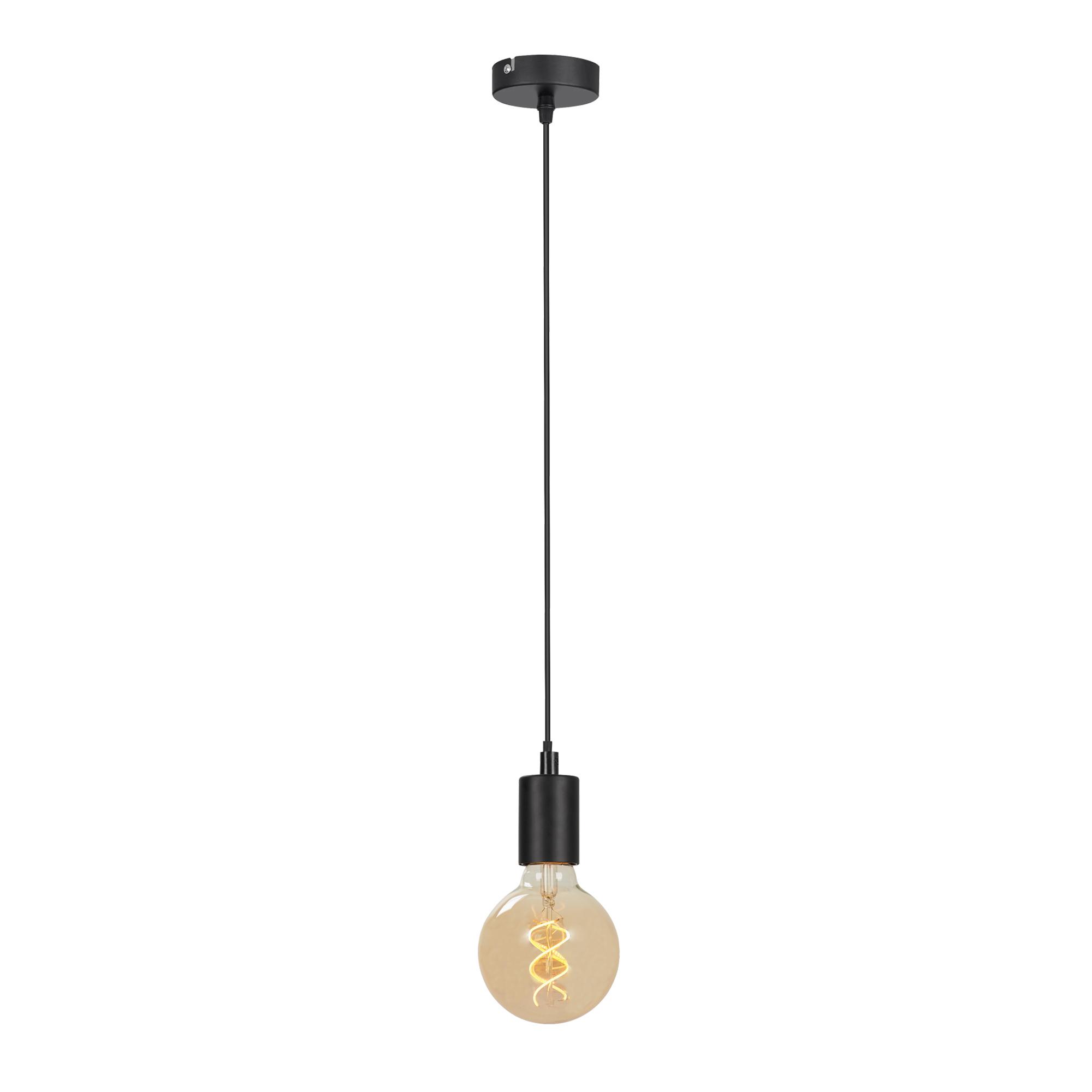 LED Pendelleuchte, 110 cm, max. 60 W, Schwarz