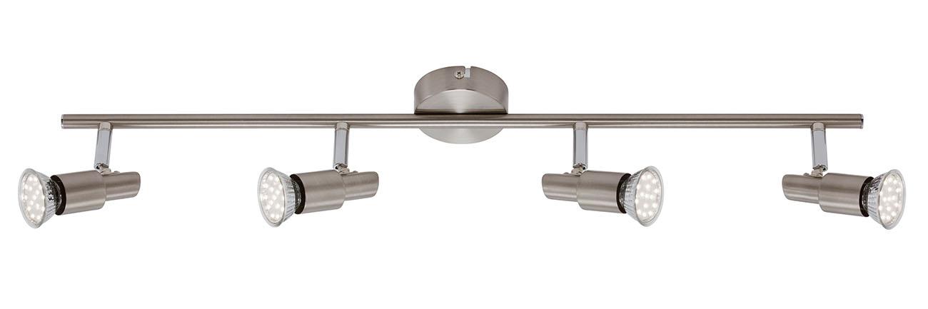 LED Spot Deckenleuchte, 67,5 cm, 12 W, Matt-Nickel