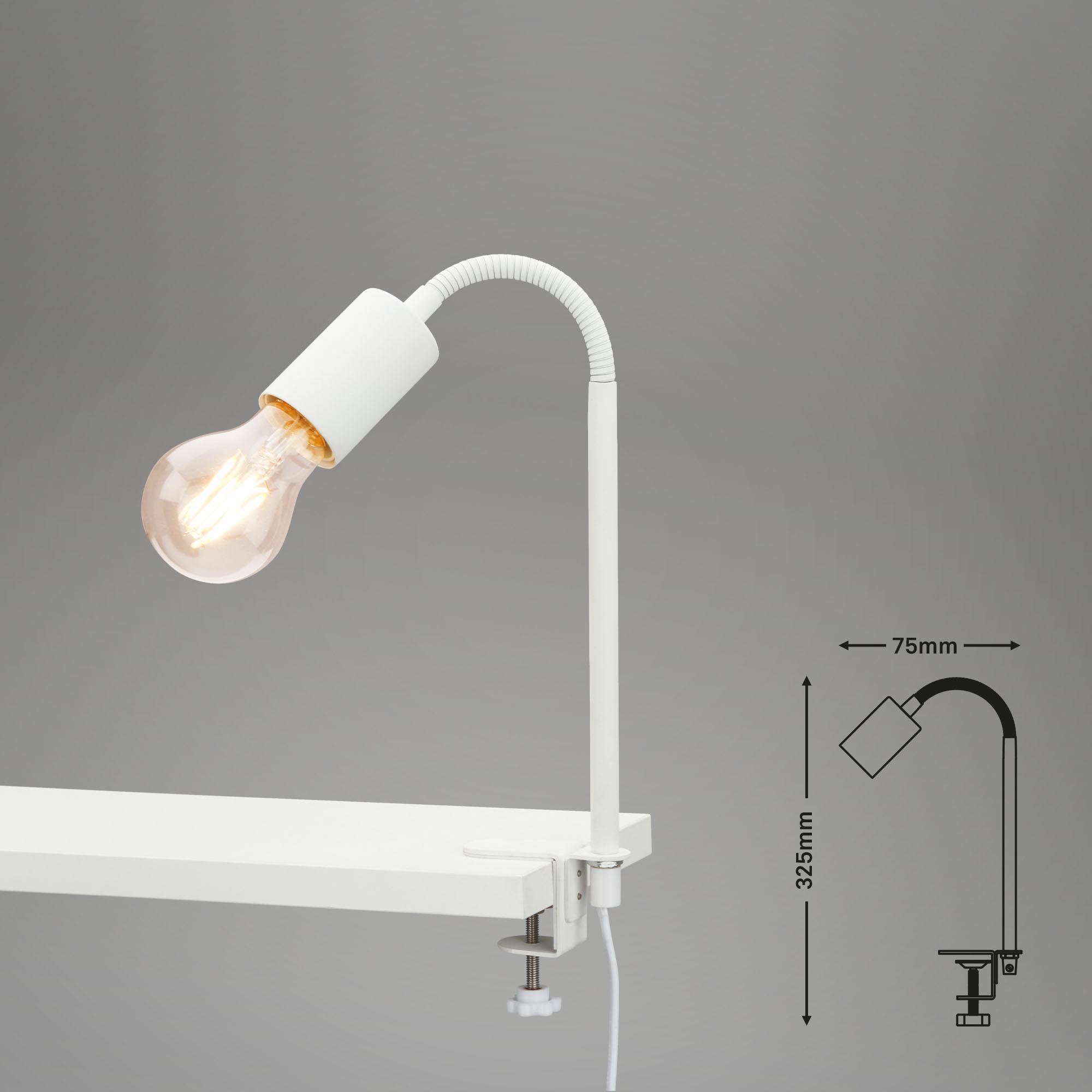 Klemmleuchte, 32,5 cm, max. 10 W, Weiß