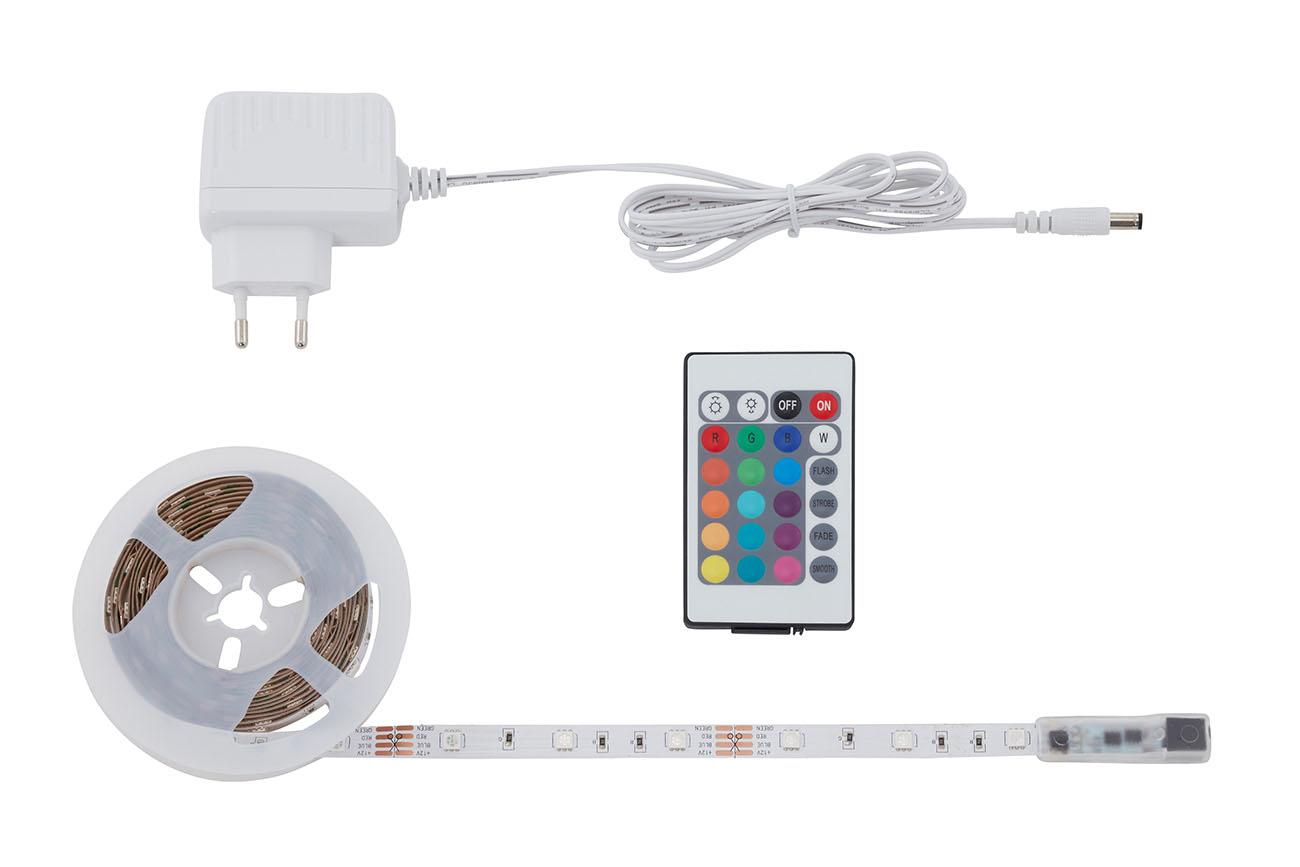 RGB LED Flexband , 5 Meter, 24 W, Weiß
