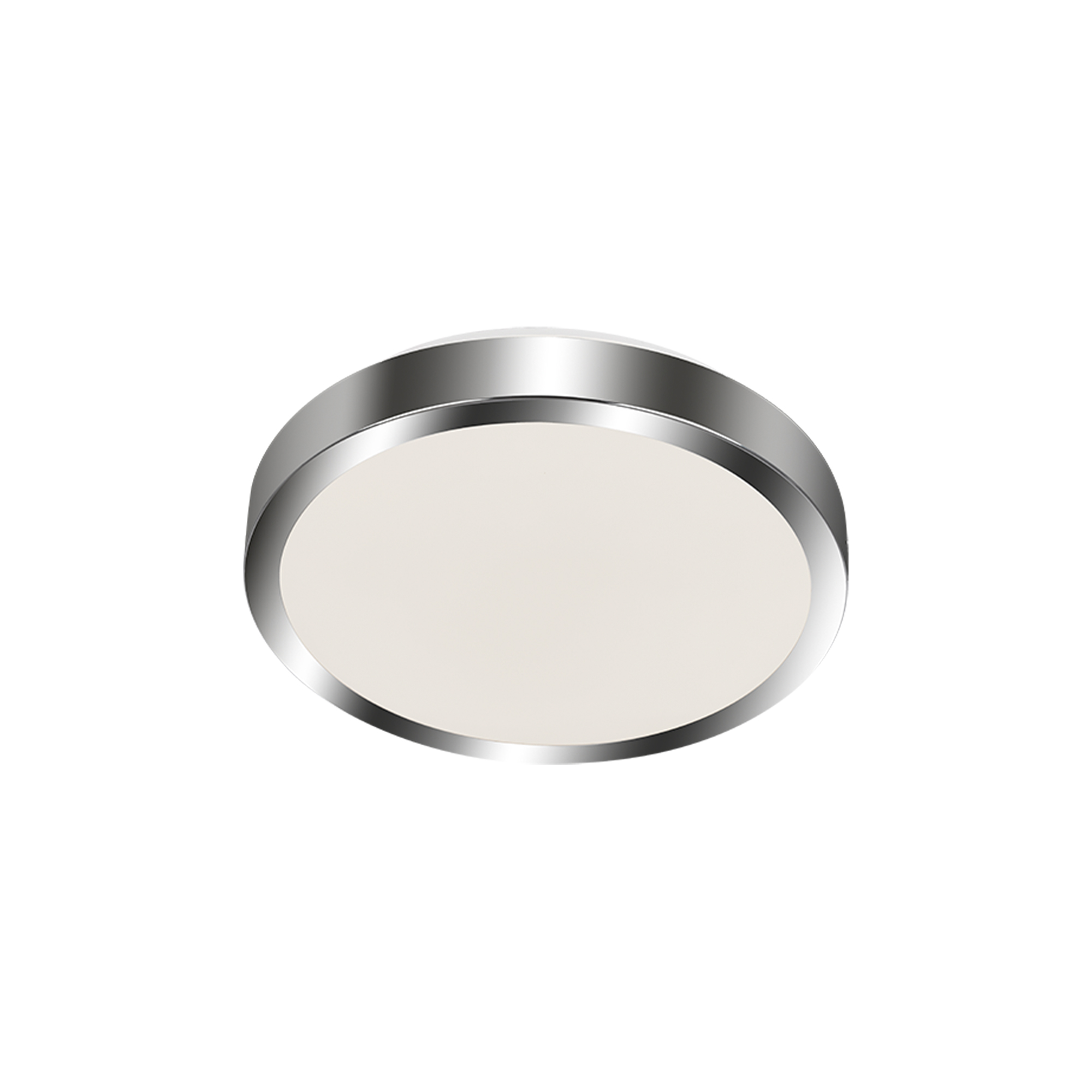 LED Deckenleuchte, Ø 29 cm, 15 W, Weiß-Chrom