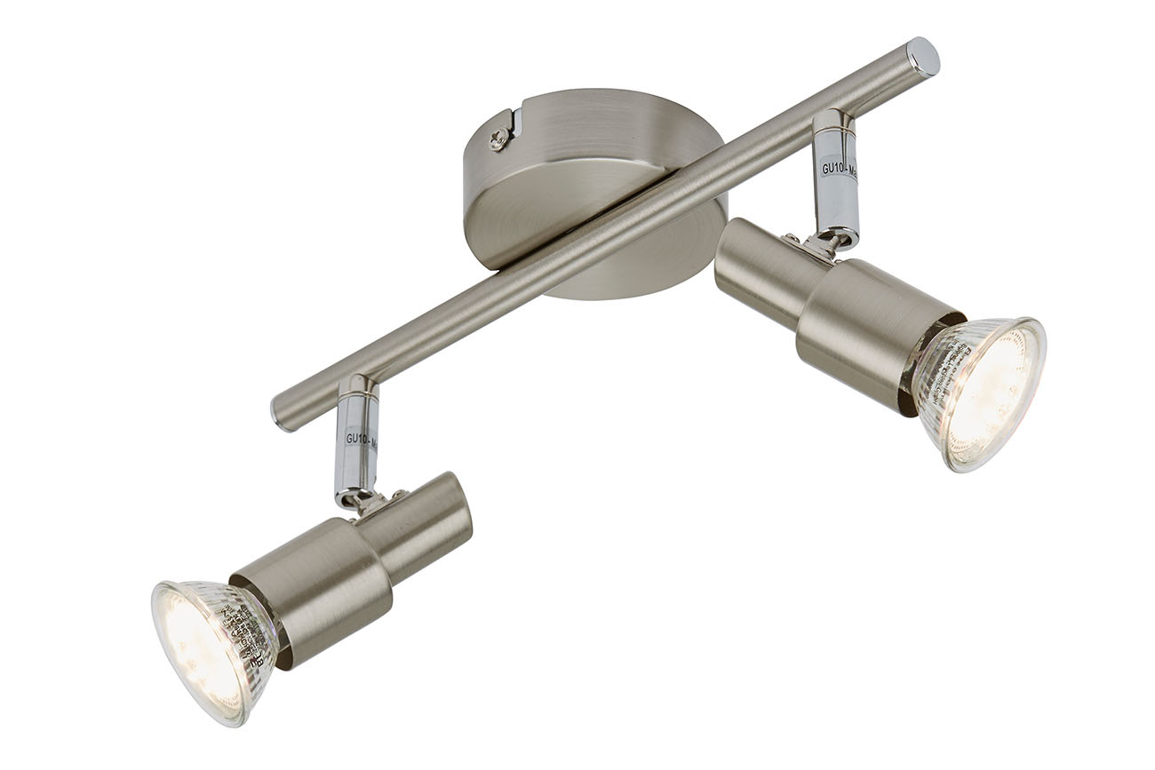 LED Spot Deckenleuchte, 27,5 cm, 6 W, Matt-Nickel