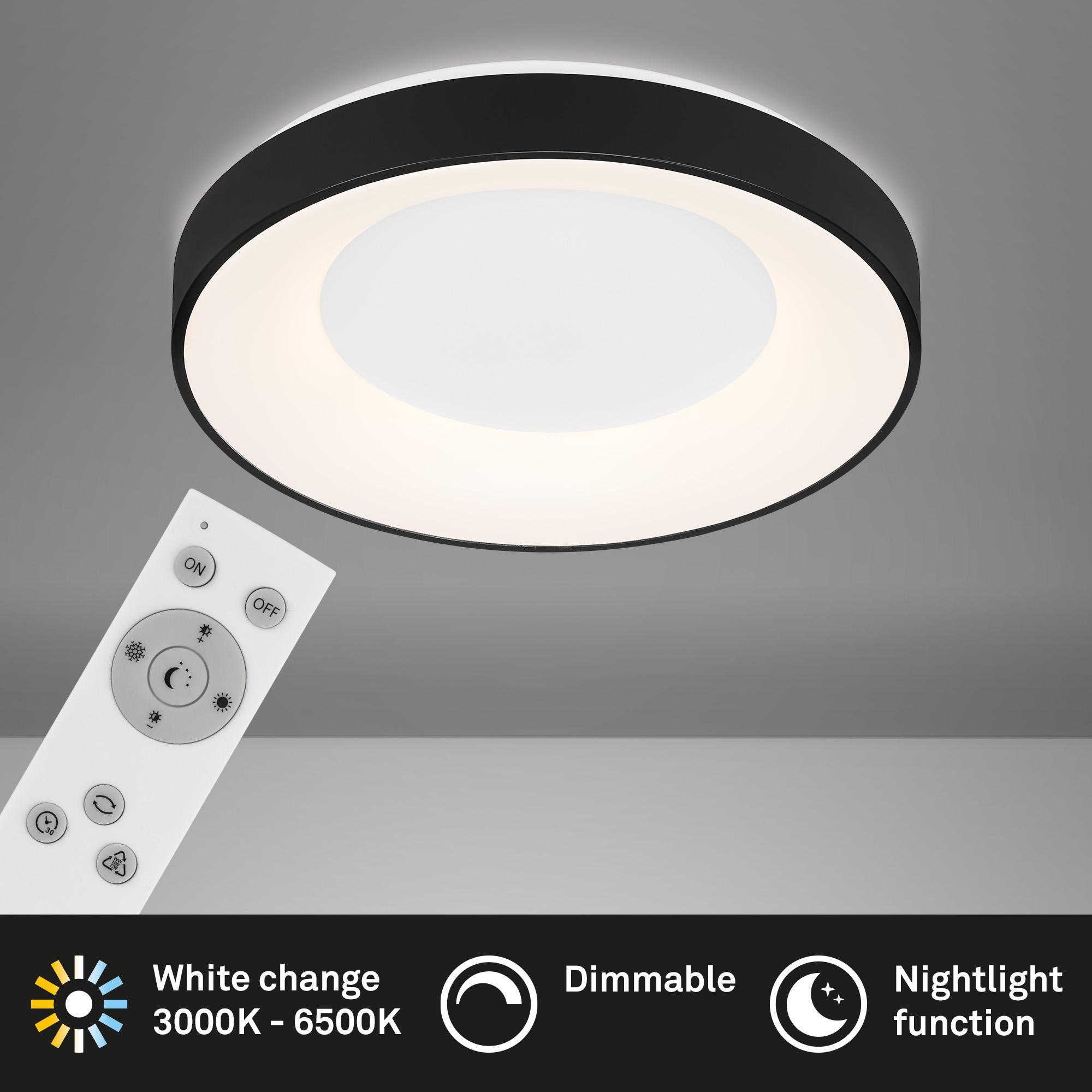 CCT LED Deckenleuchte Schwarz