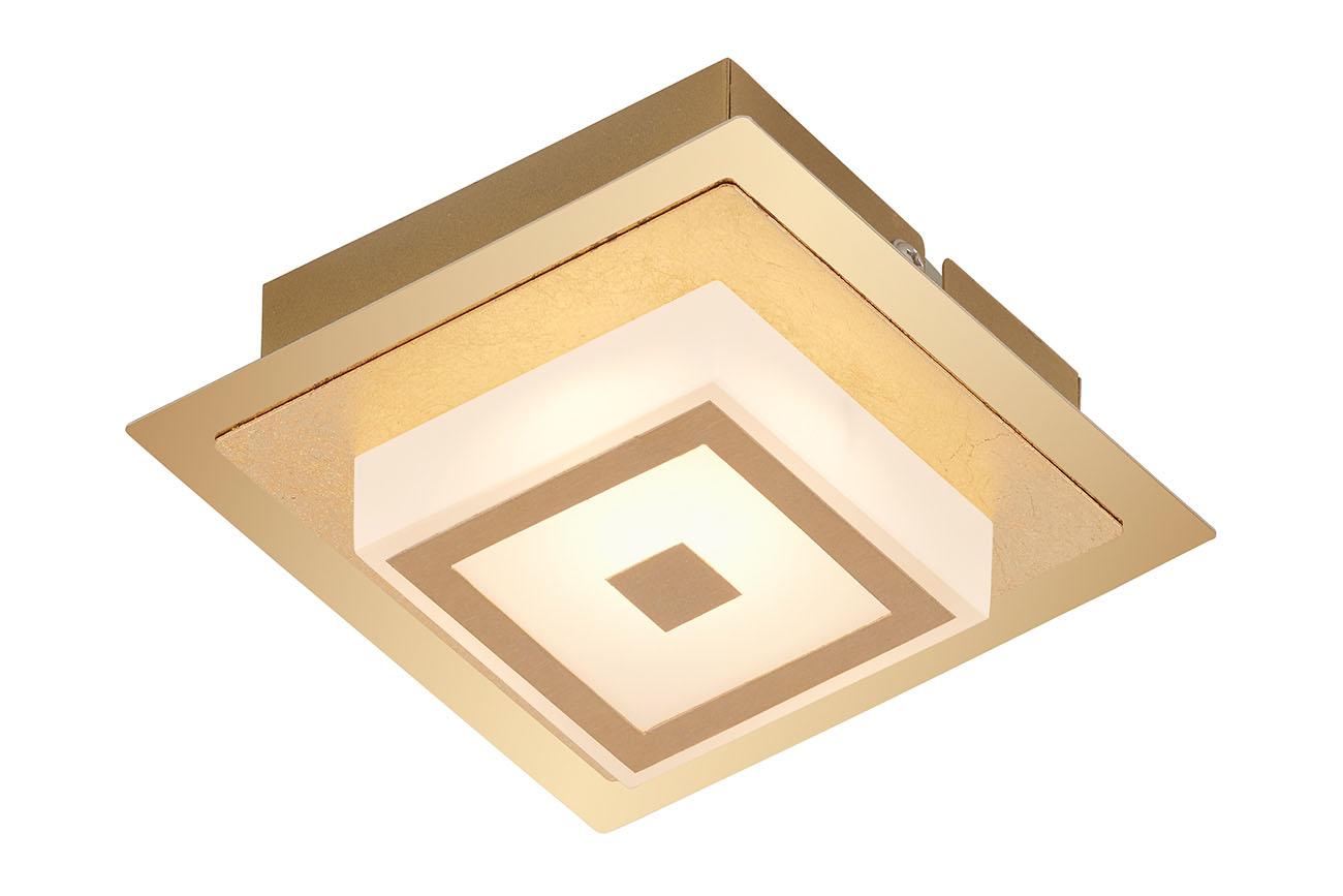 LED Wandleuchte, 12 cm, 5 W, Gold