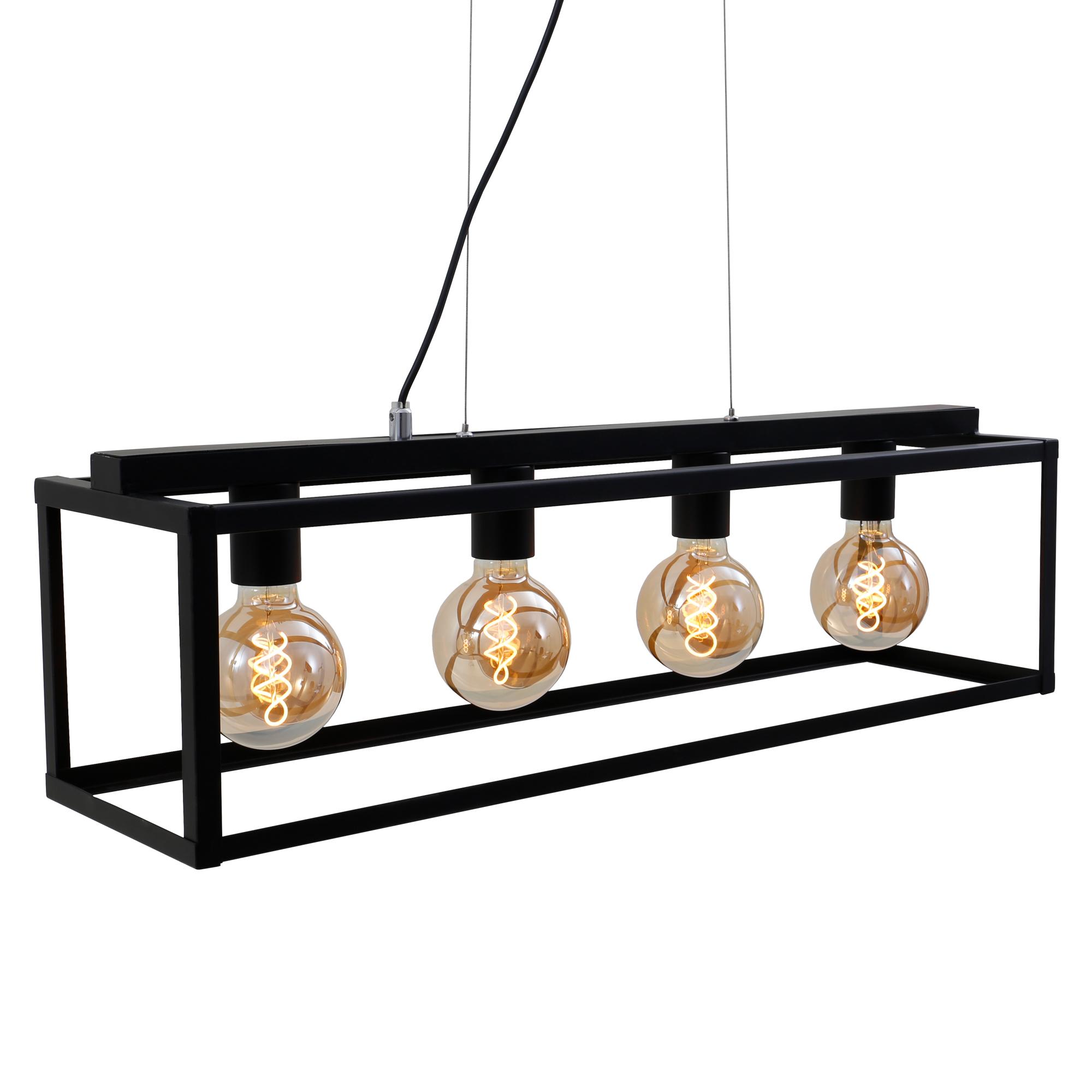 LED Pendelleuchte, 75 cm, max. 40 W, Schwarz