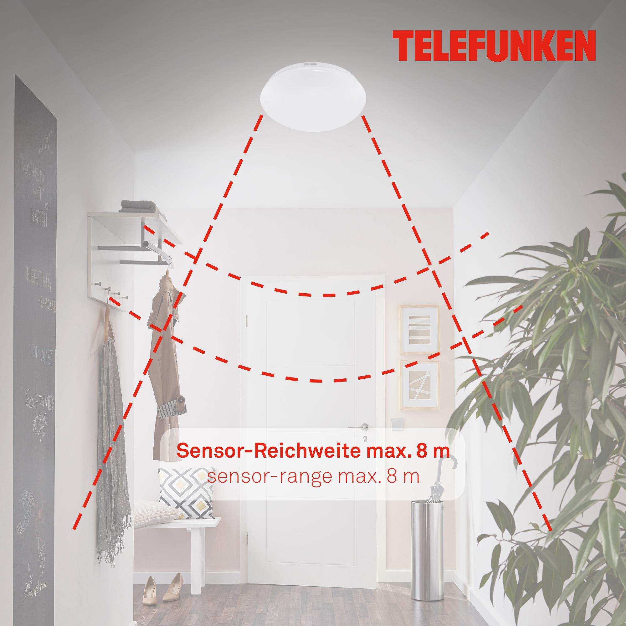 TELEFUNKEN LED Deckenleuchte Weiß