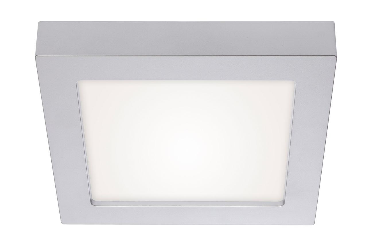 2in1 LED Auf- und Einbauleuchte, Ø 22,7 cm, 18 W, Chrom-Matt