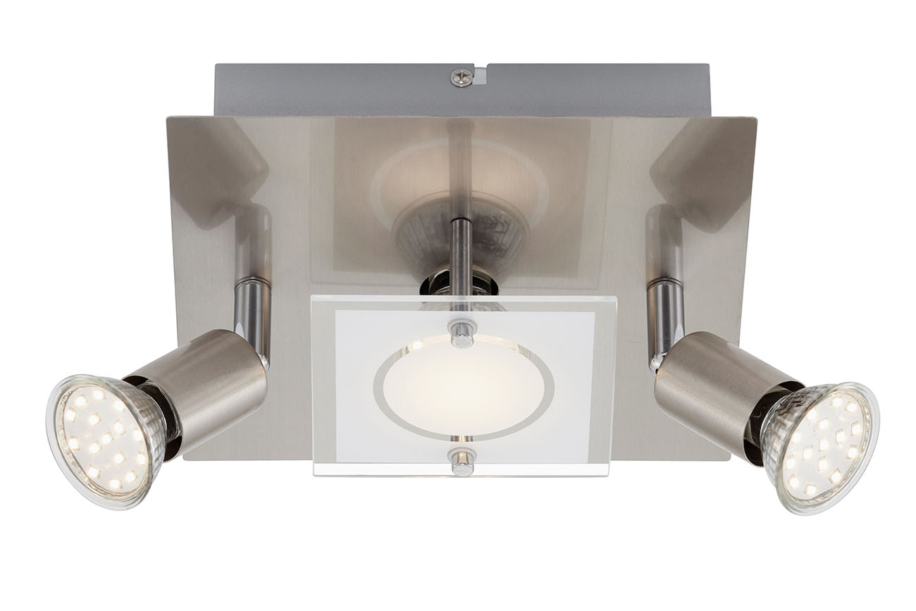 LED Deckenleuchte, 20 cm, 9 W, Matt-Nickel
