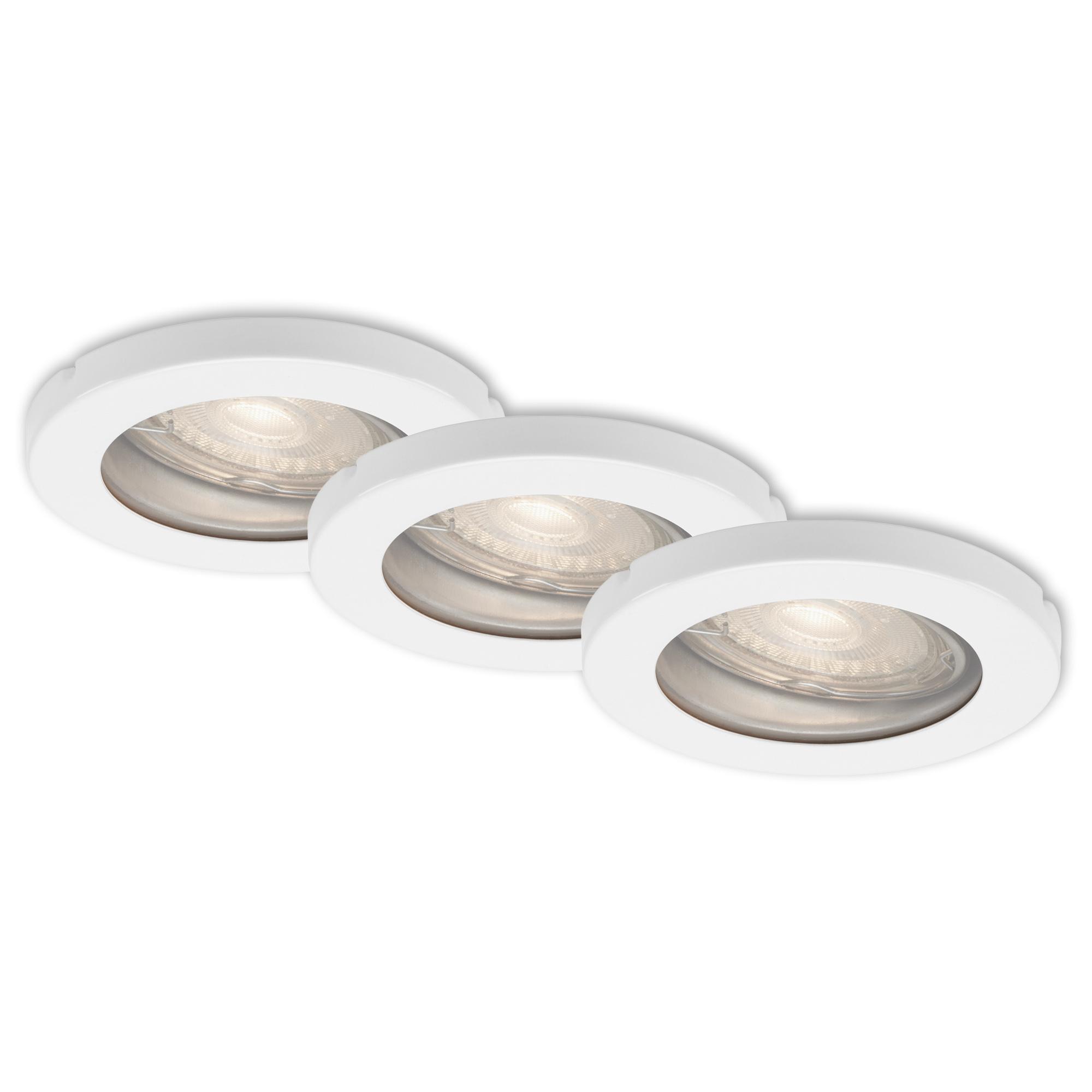 3er Set LED Einbauleuchte, Ø 8,5 cm, 5 W, Weiß