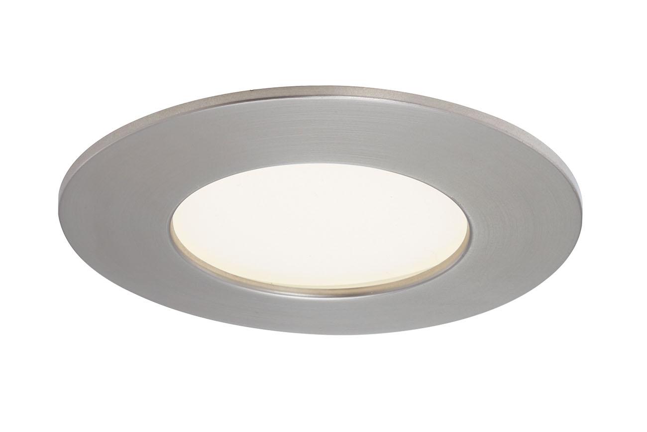 3er Set LED Einbauleuchte, Ø 8,5 cm, 6 W, Matt-Nickel