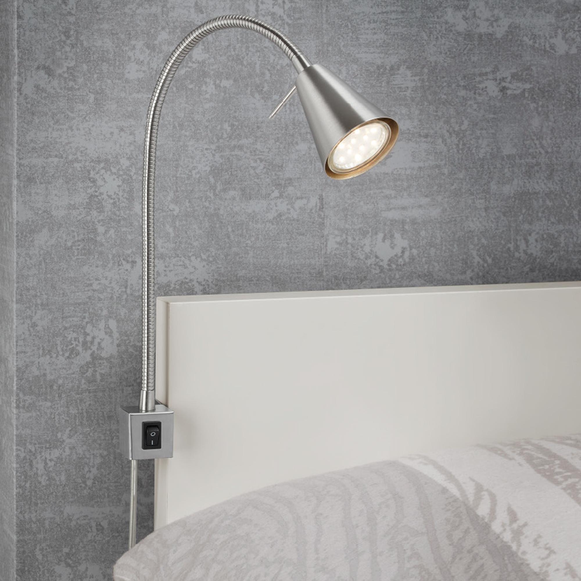 LED Wandleuchte Matt-Nickel