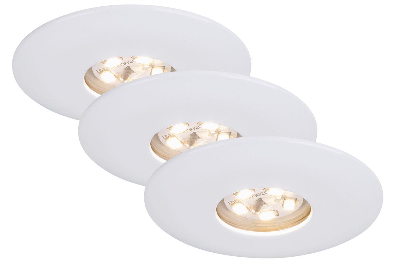 3er Set LED Einbauleuchte, Ø 4,5 , 1,8 W, Weiß