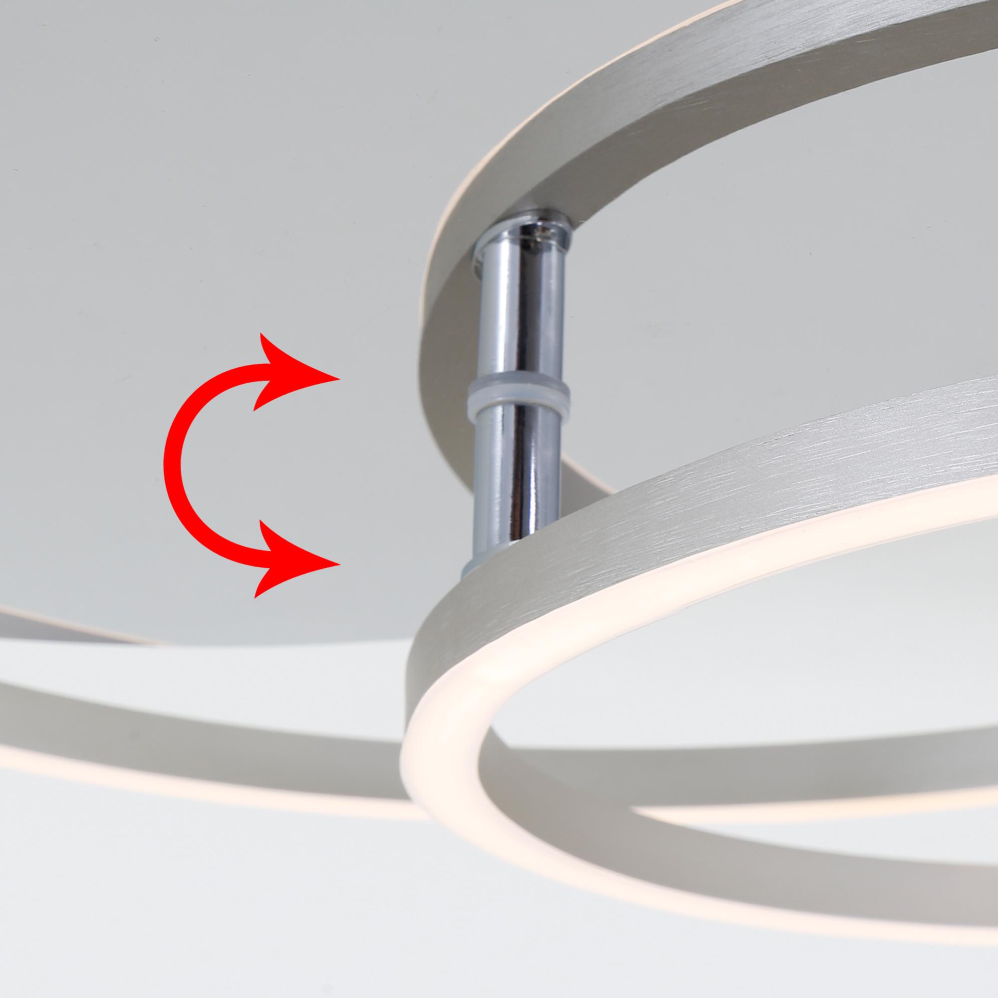 LED Deckenleuchte Alu-Chrom