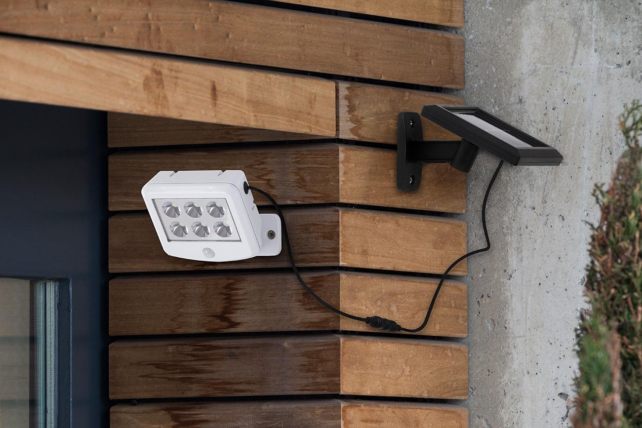 LED Solar Außenleuchte, 12,8 cm, 3 W, Weiß