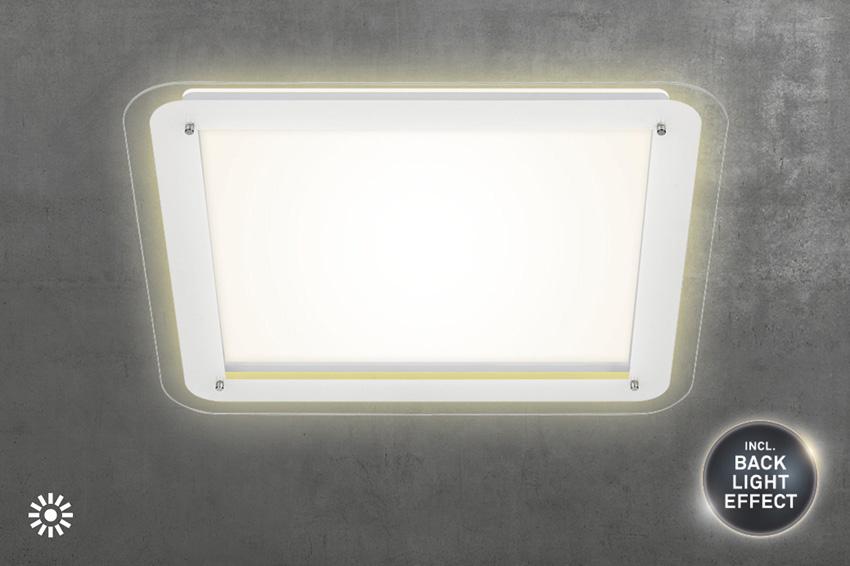 LED Deckenleuchte, 52 cm, 18 W, Weiß