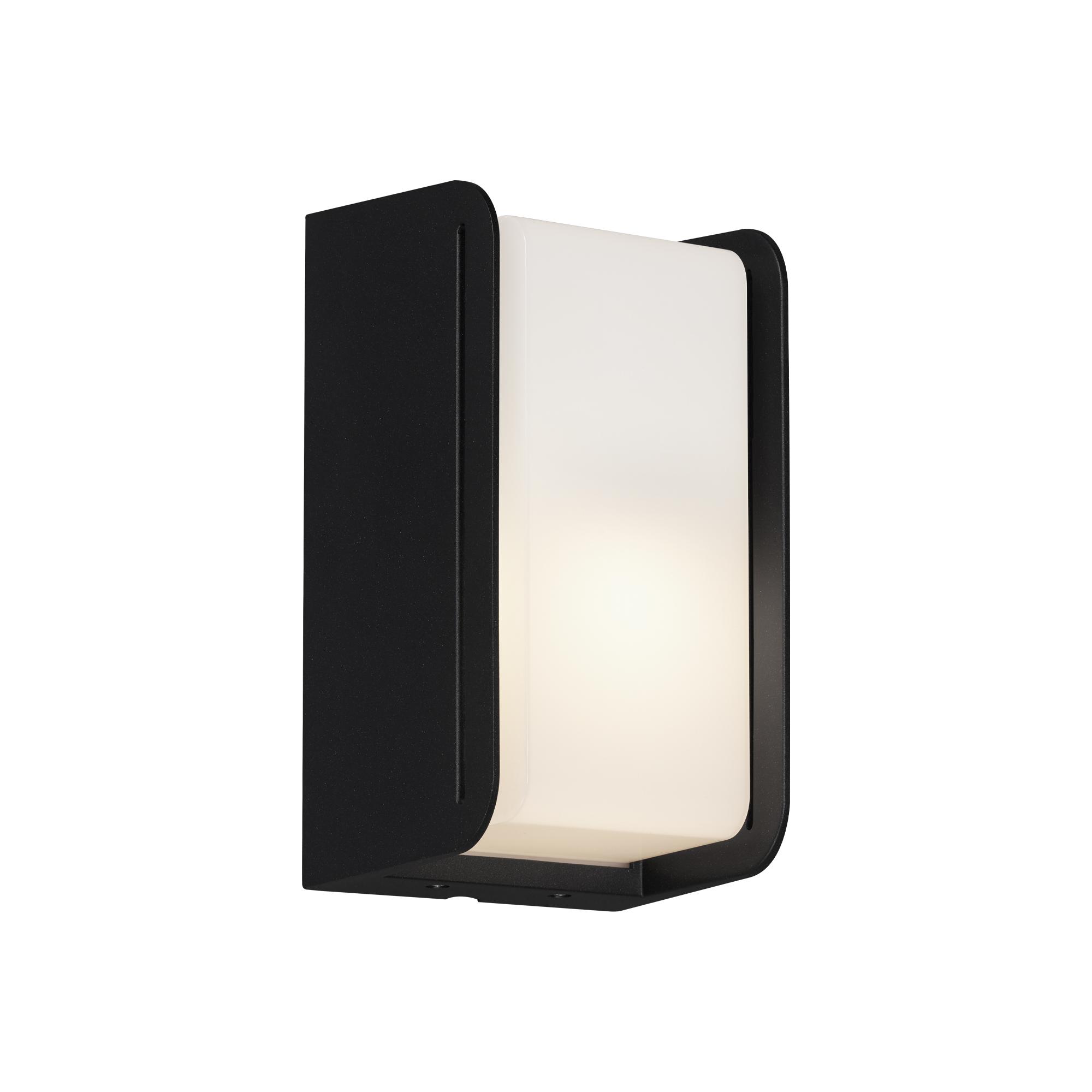 LED Ausseleuchte, 21,5 cm, max. 12 W, Schwarz