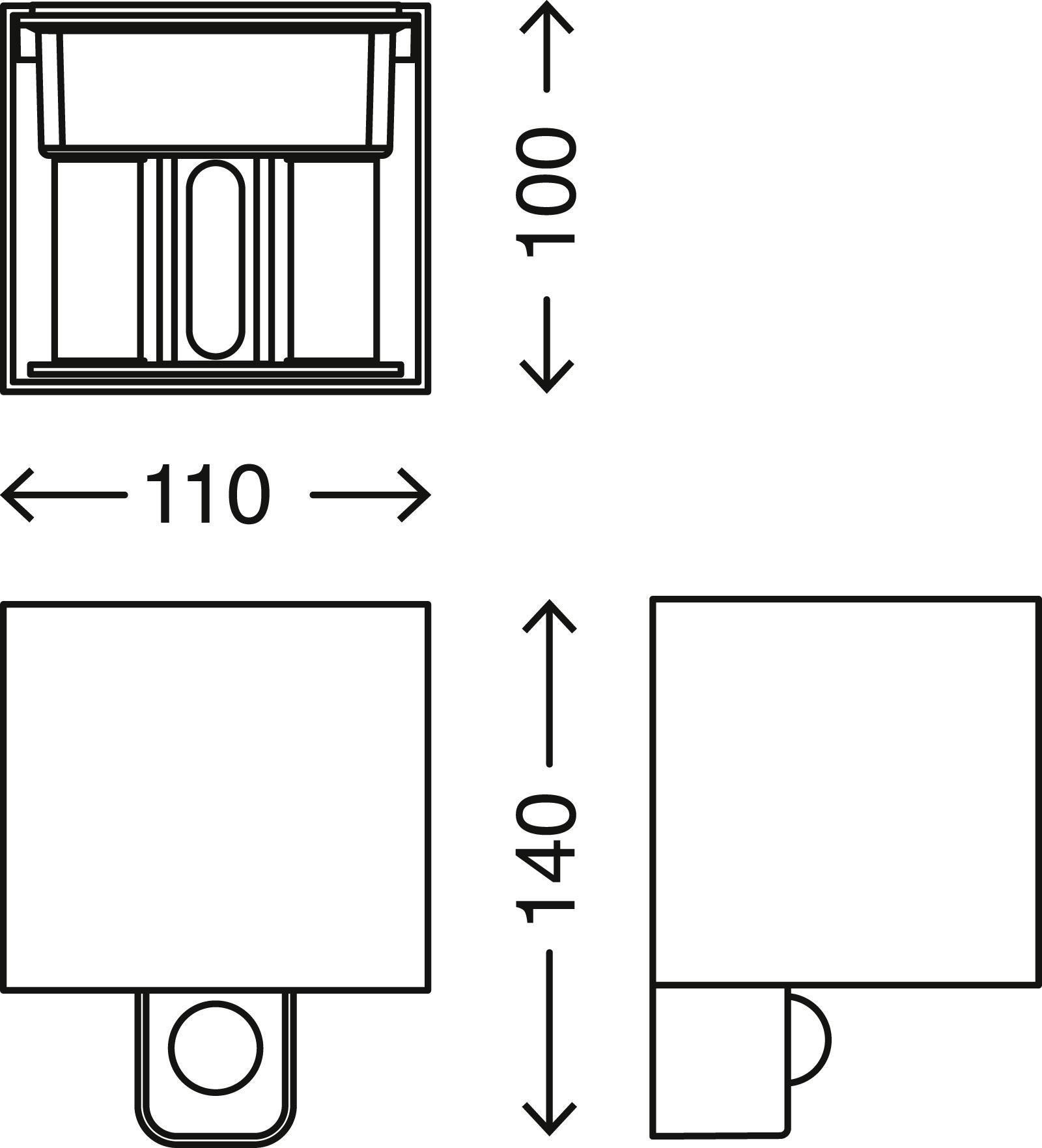 TELEFUNKEN LED Aussenwandleuchte, 11 cm, 7 W, Anthrazit