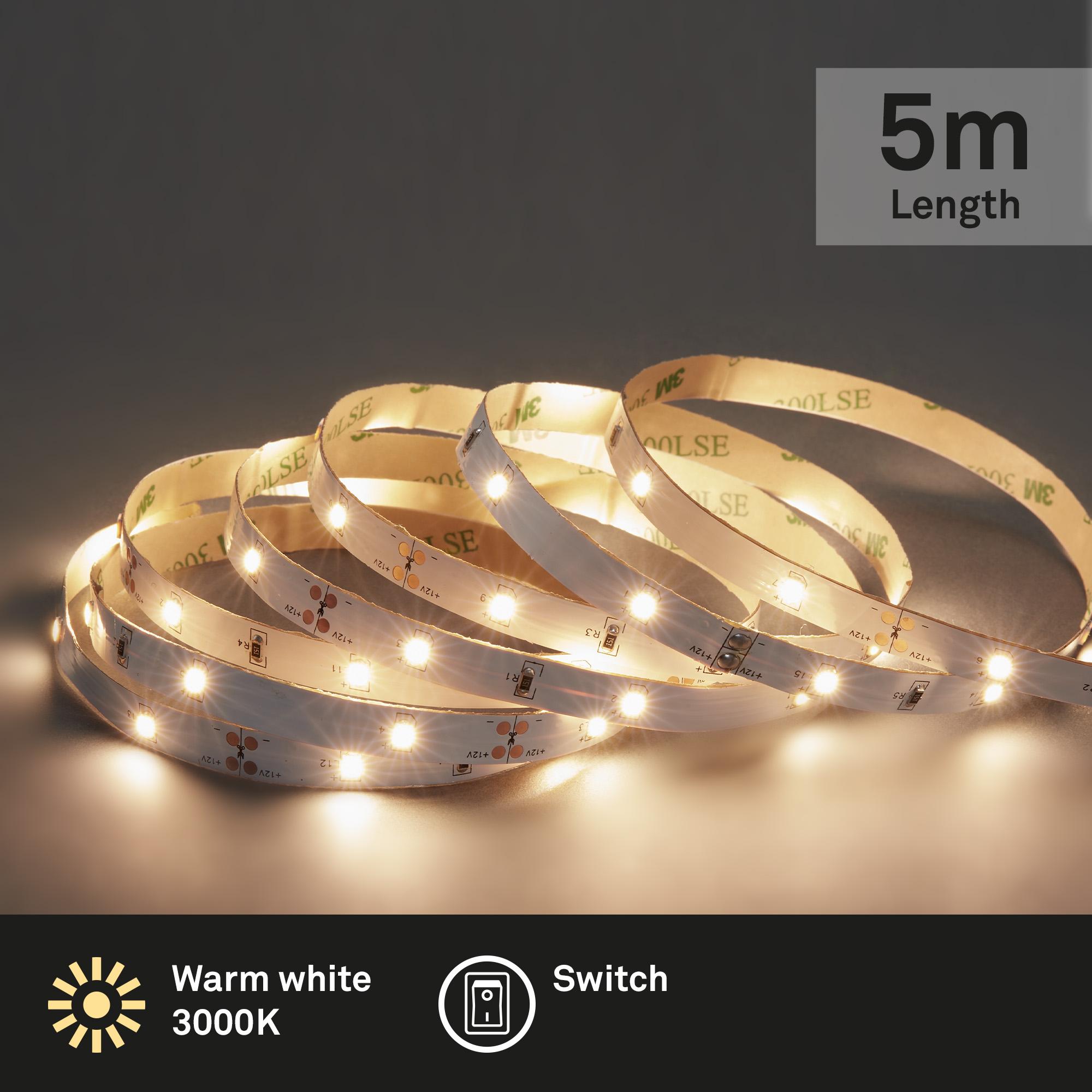 LED Band, 5 Meter, 16 W, Weiß