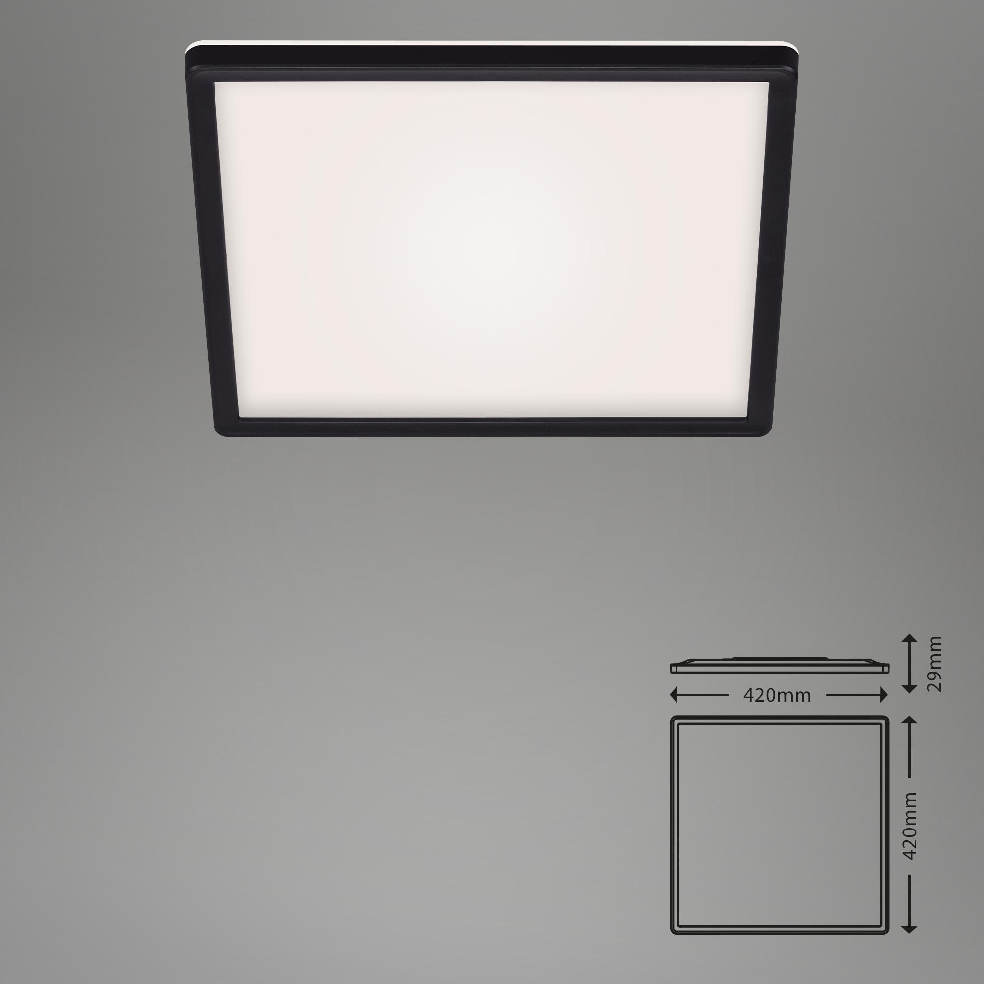 SLIM CCT LED Panel, 42 cm, 22 W, Schwarz