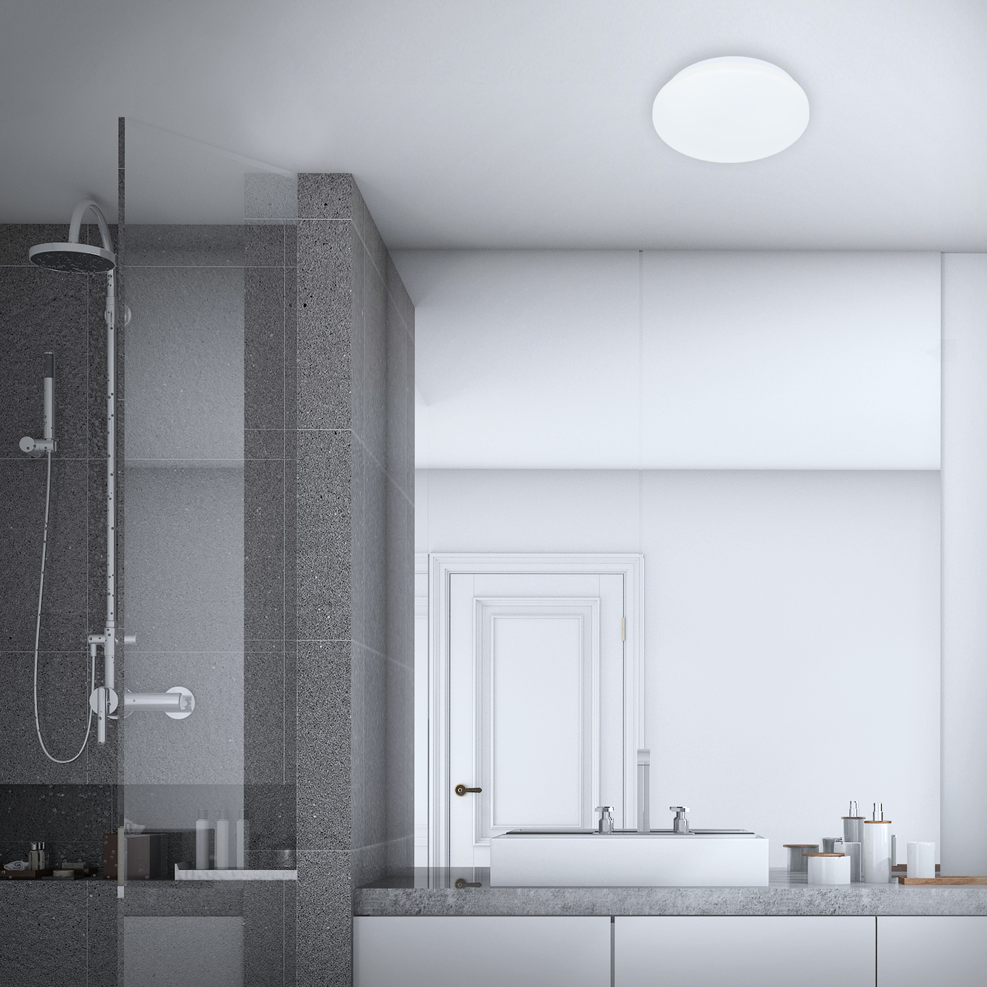 LED Deckenleuchte Weiß