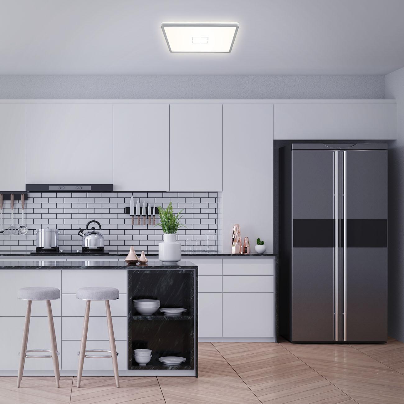 Slim LED Panel Silber
