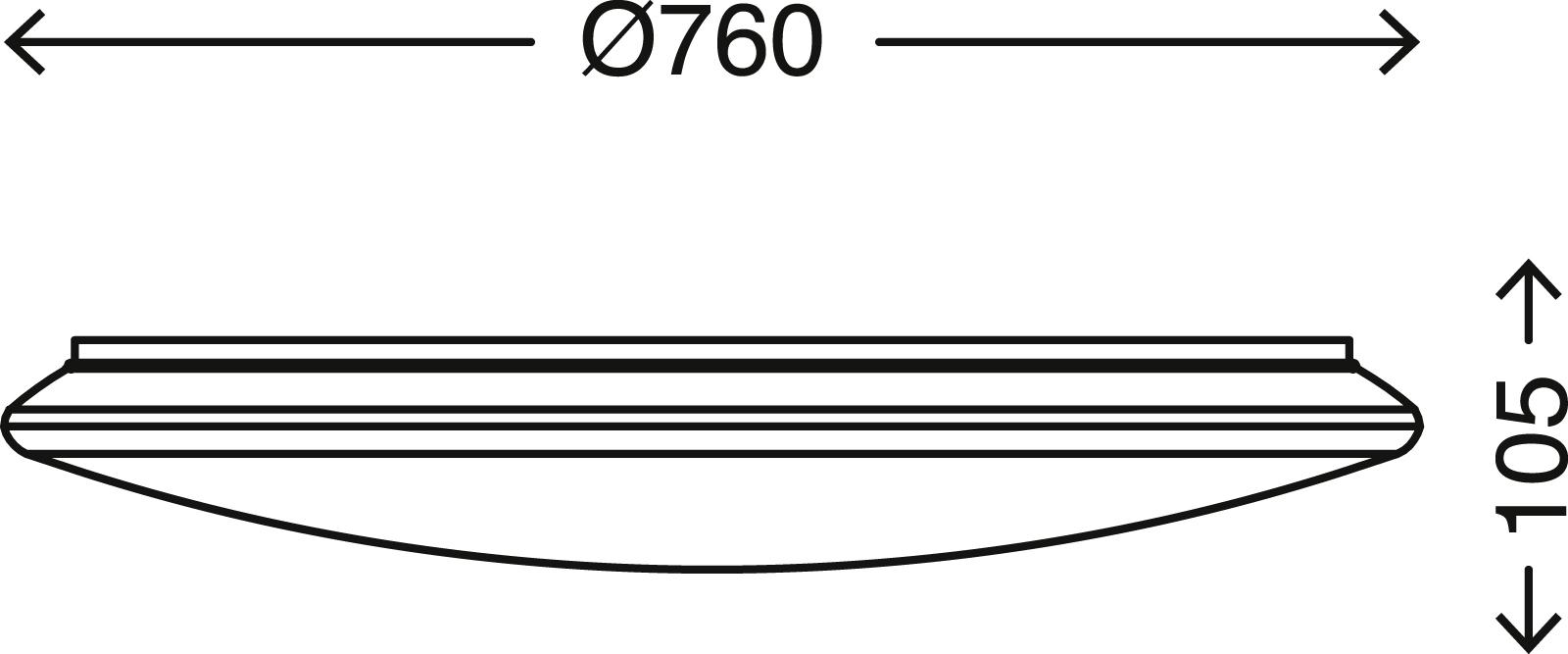 SMART LED Deckenleuchte, Ø 76 cm, 60W, Weiß