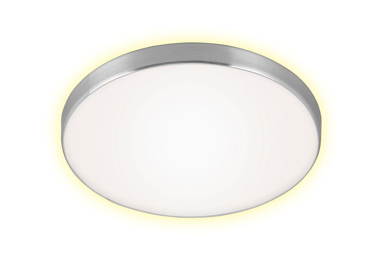 LED Deckenleuchte, Ø 28,5 cm, 12 W, Alu-Weiss