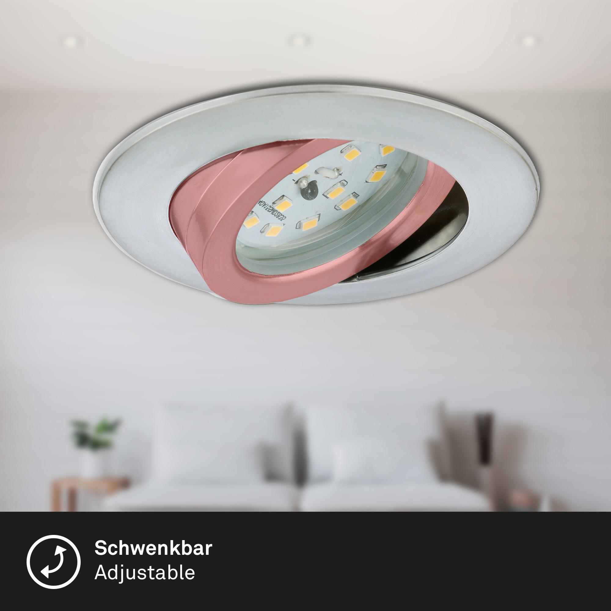 LED Einbauleuchte, Ø 8,2 cm, 5,5 W, Alu