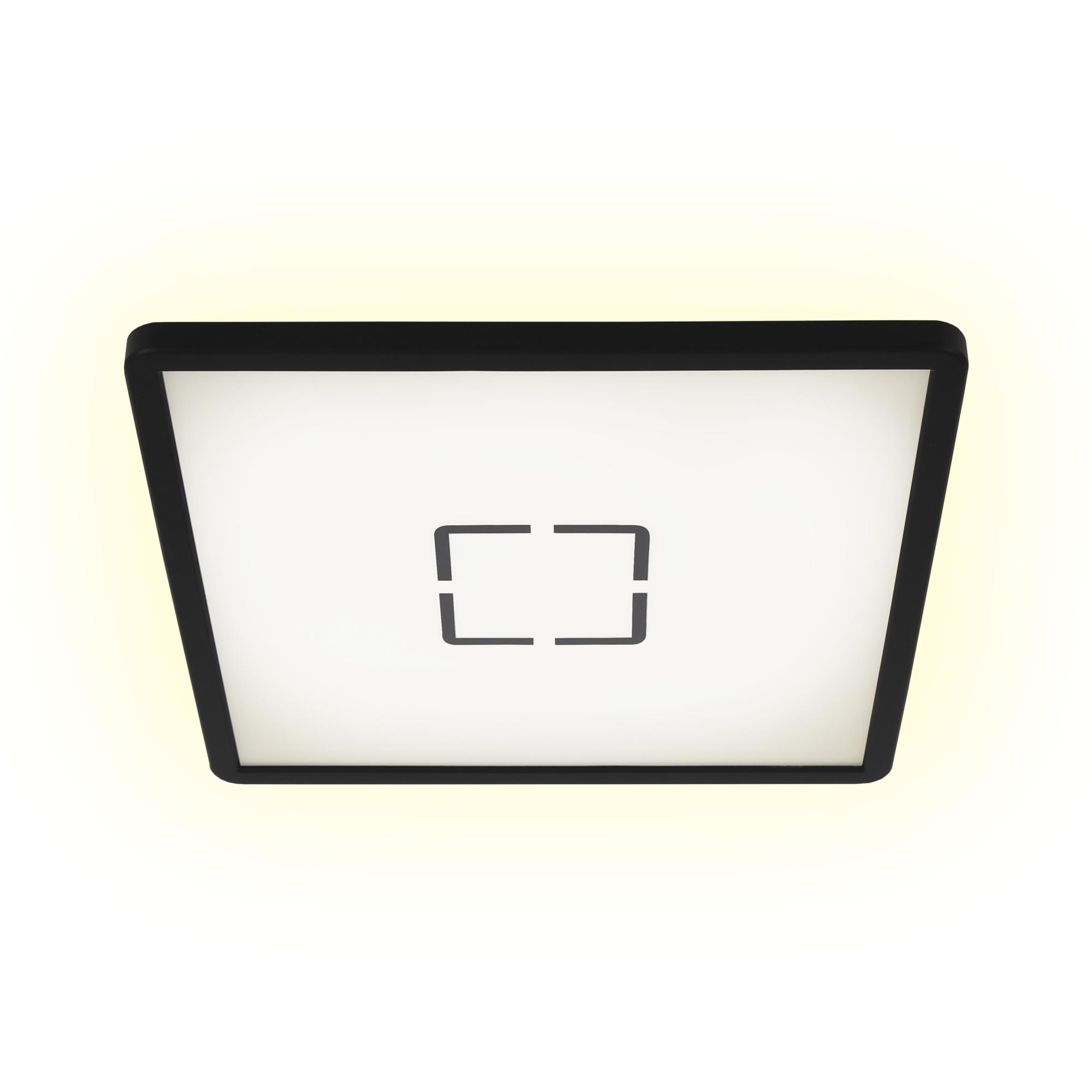 Slim LED Panel, 29,3 cm, 2400 LUMEN, 18 WATT, Schwarz