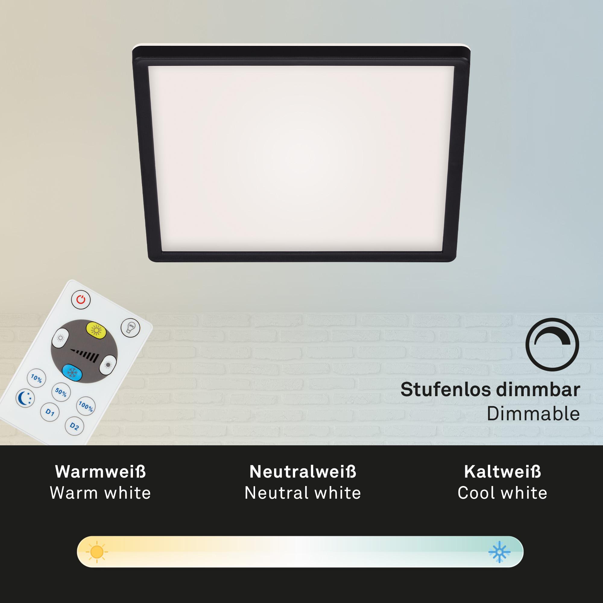 SLIM CCT LED Panel, 29,3 cm, 18 W, Schwarz