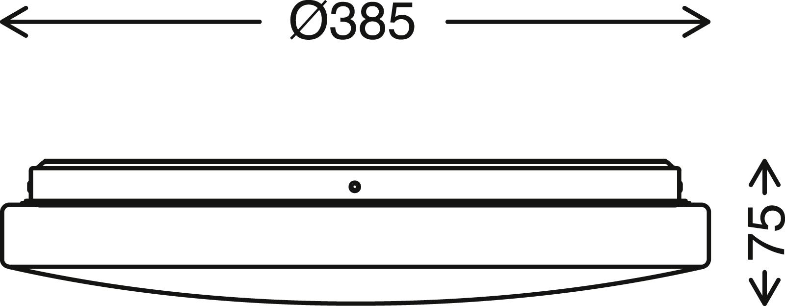 Sternenhimmel LED Deckenleuchte, Ø 38,5 cm, 18 W, Weiss