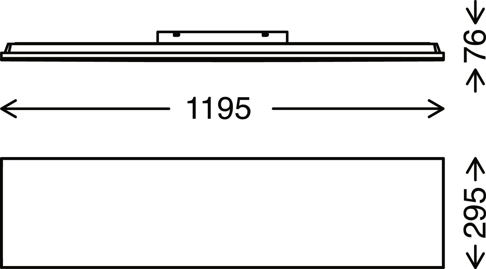 FRAMELESS LED Panel, 119,5 cm, 3800 LUMEN, 38 WATT, Weiss