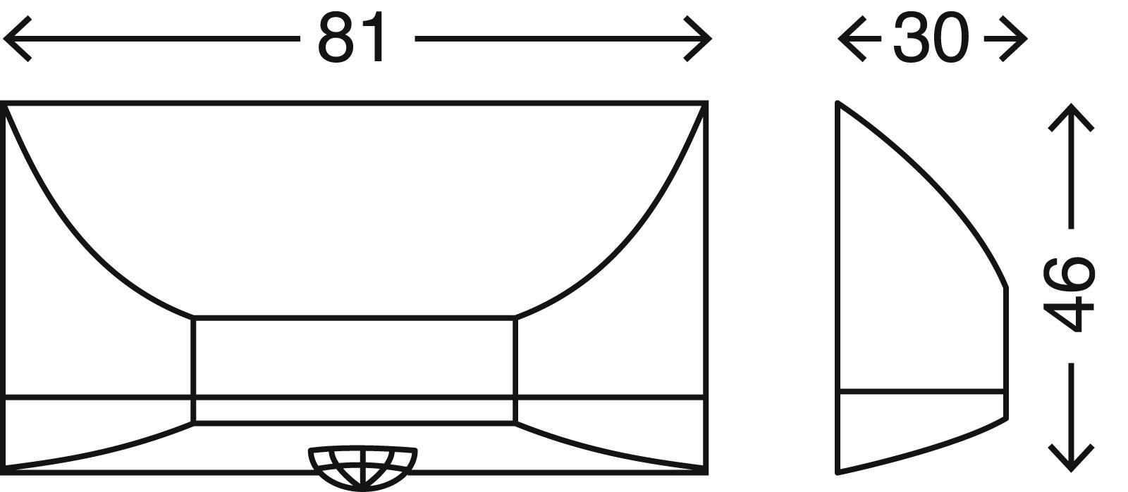 LED Türschlossbeleuchtung, 8,1 cm, 0,24 W, Titan