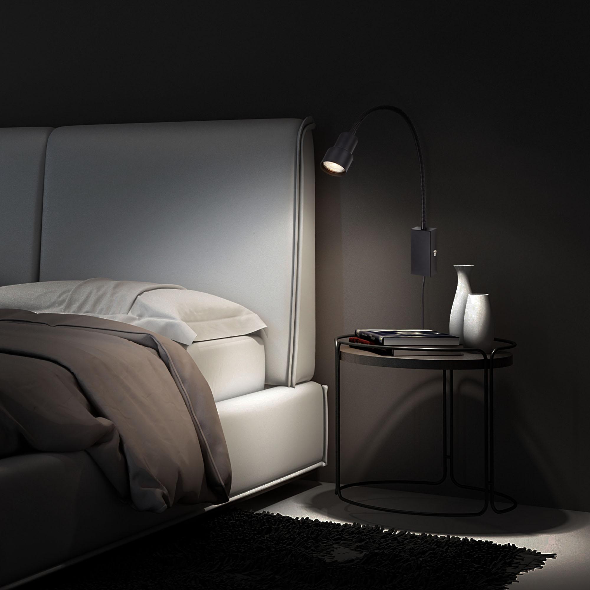 LED Touch Wandleuchte, 57,7 cm, 5 W, Schwarz