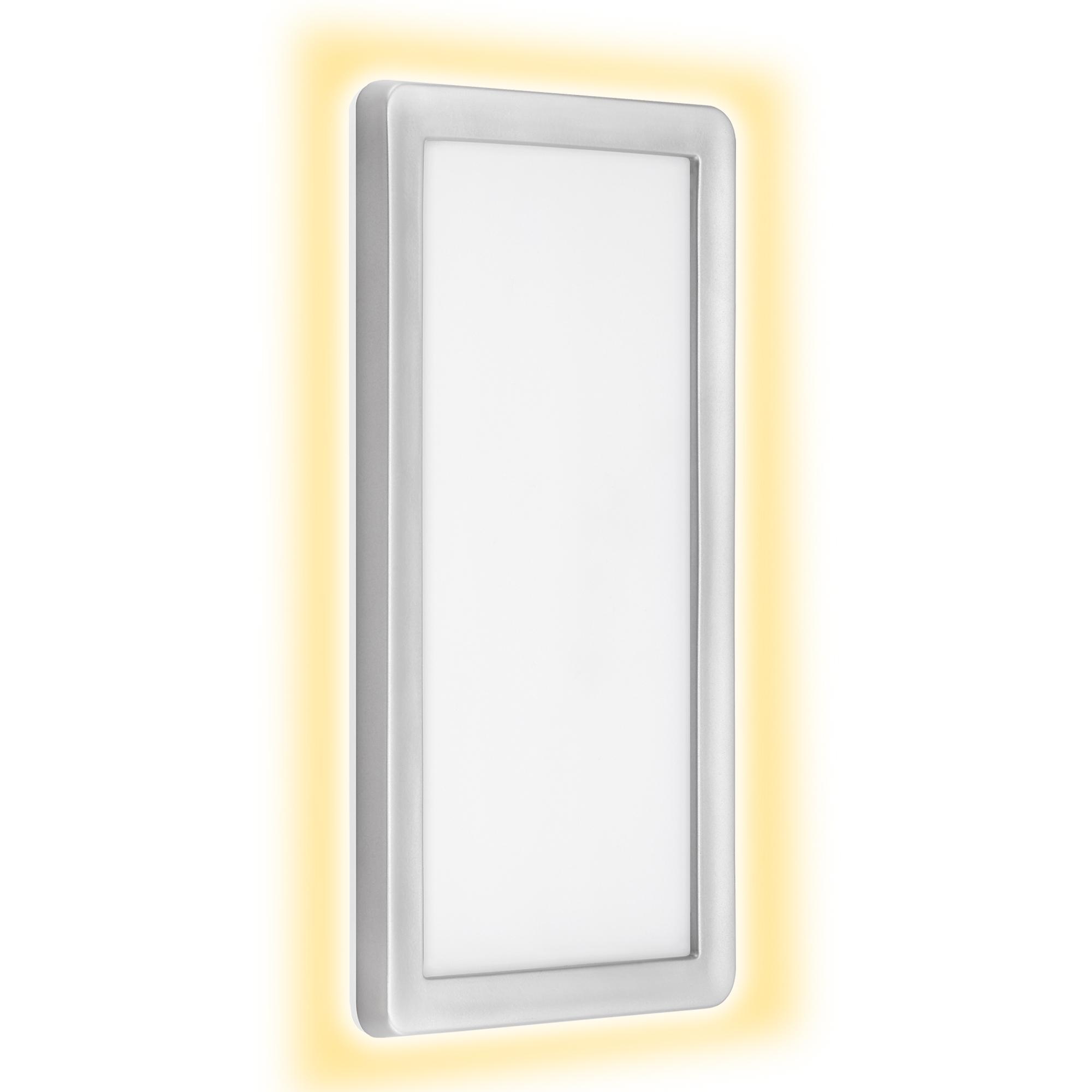 TELEFUNKEN LED Außenwandleuchte, 28 cm, 16 W, Silber
