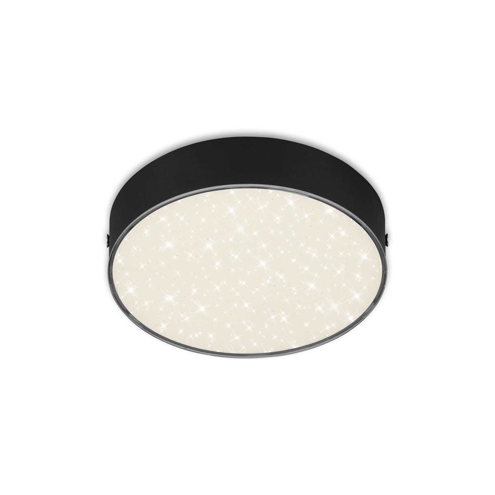 STERNENHIMMEL LED Deckenleuchte, Ø 15,7 cm, 11 W, Schwarz