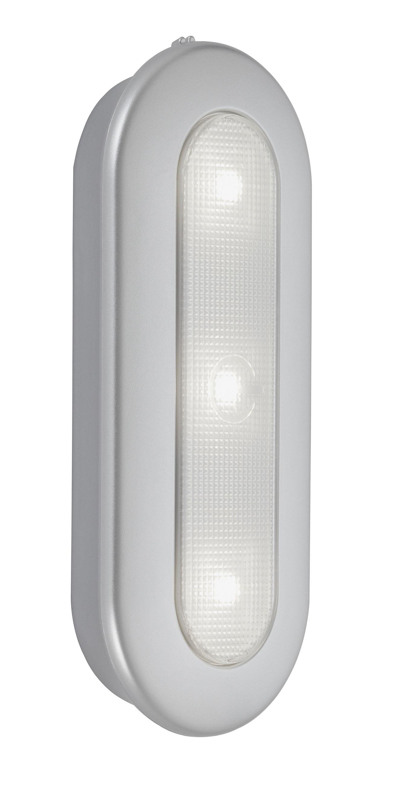 LED Push-Light, 15,2 cm, 0,4 W, Silber