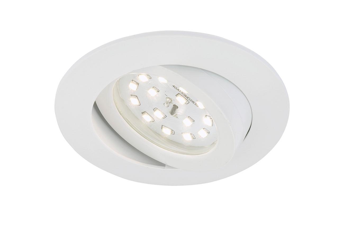 LED Einbauleuchte, Ø 8,2 cm, 5 W, Weiß