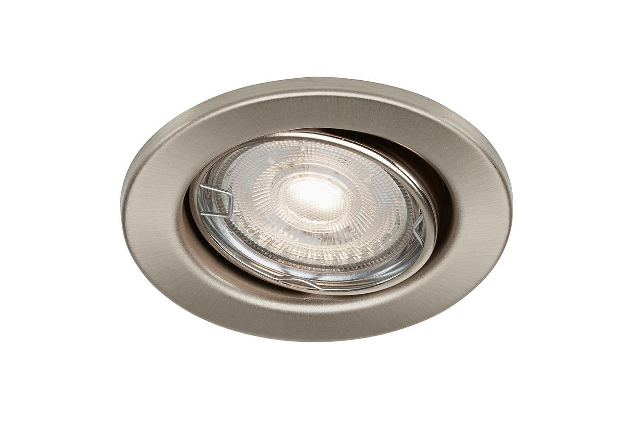 LED Einbauleuchte, Ø 8,6 cm, 5 W, Matt-Nickel