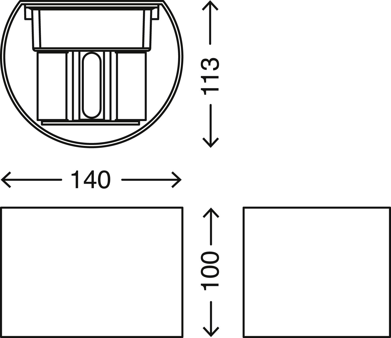 TELEFUNKEN LED Aussenleuchte, 14 cm, 7 W, Silber