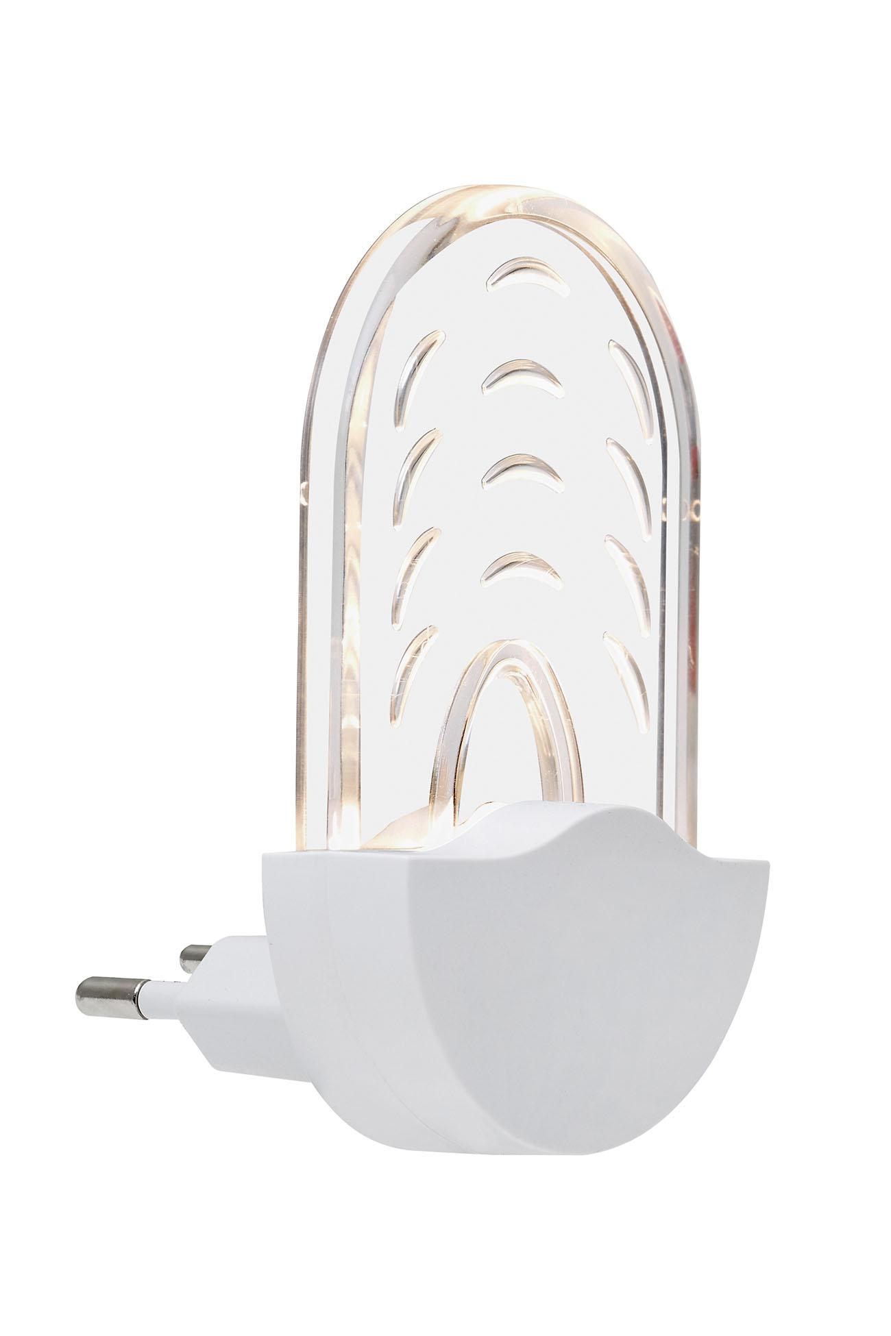 LED Steckernachtlicht, Ø 9 cm, 0,5 W, Weiß