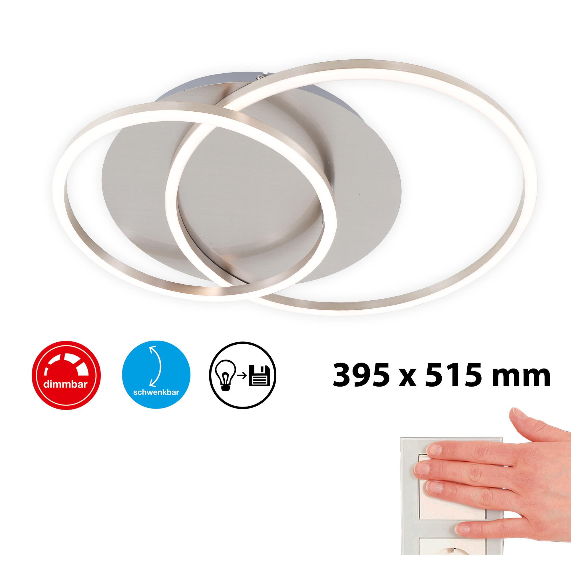 LED Deckenleuchte Matt-Nickel