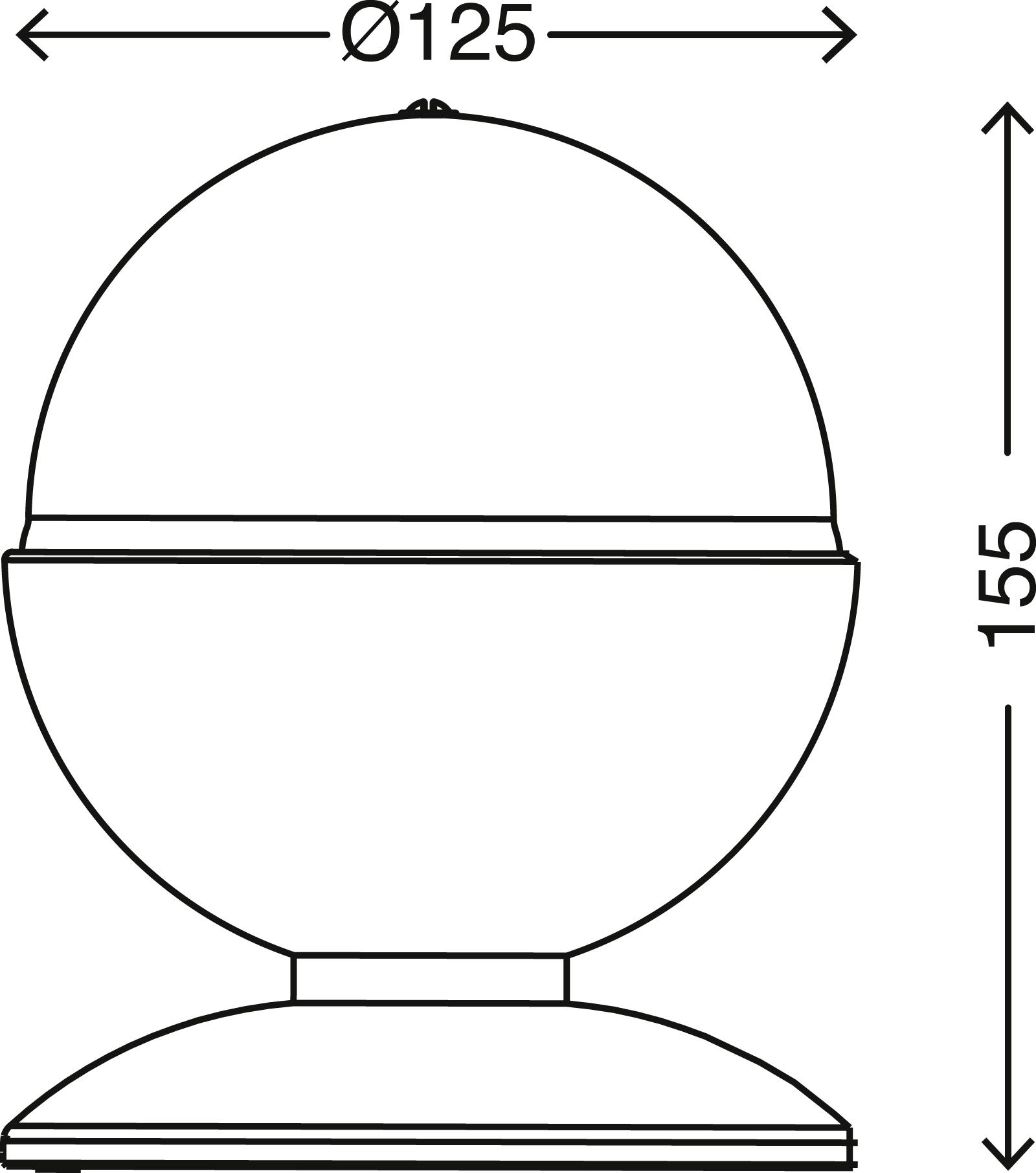 RGB LED Tischleuchte, Ø 12,5 cm, 3 W, Schwarz