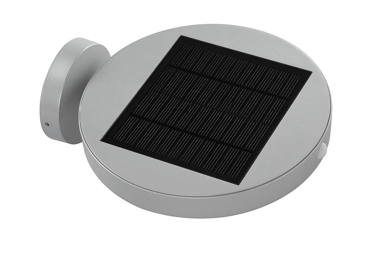 TELEFUNKEN Solar LED Aussenleuchte, 29 cm, 10 W, Silber