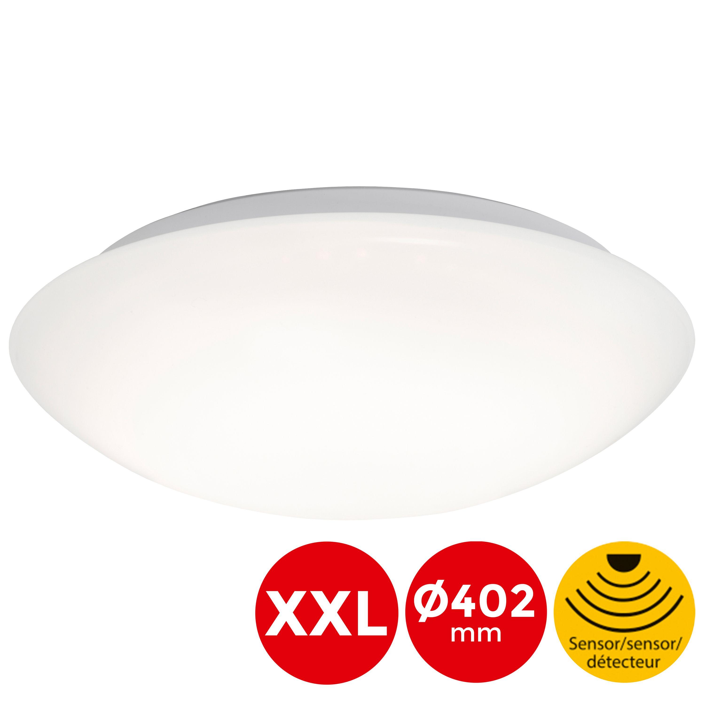 SENSOR LED Deckenleuchte, Ø 27,8 cm, 15 W, Weiß