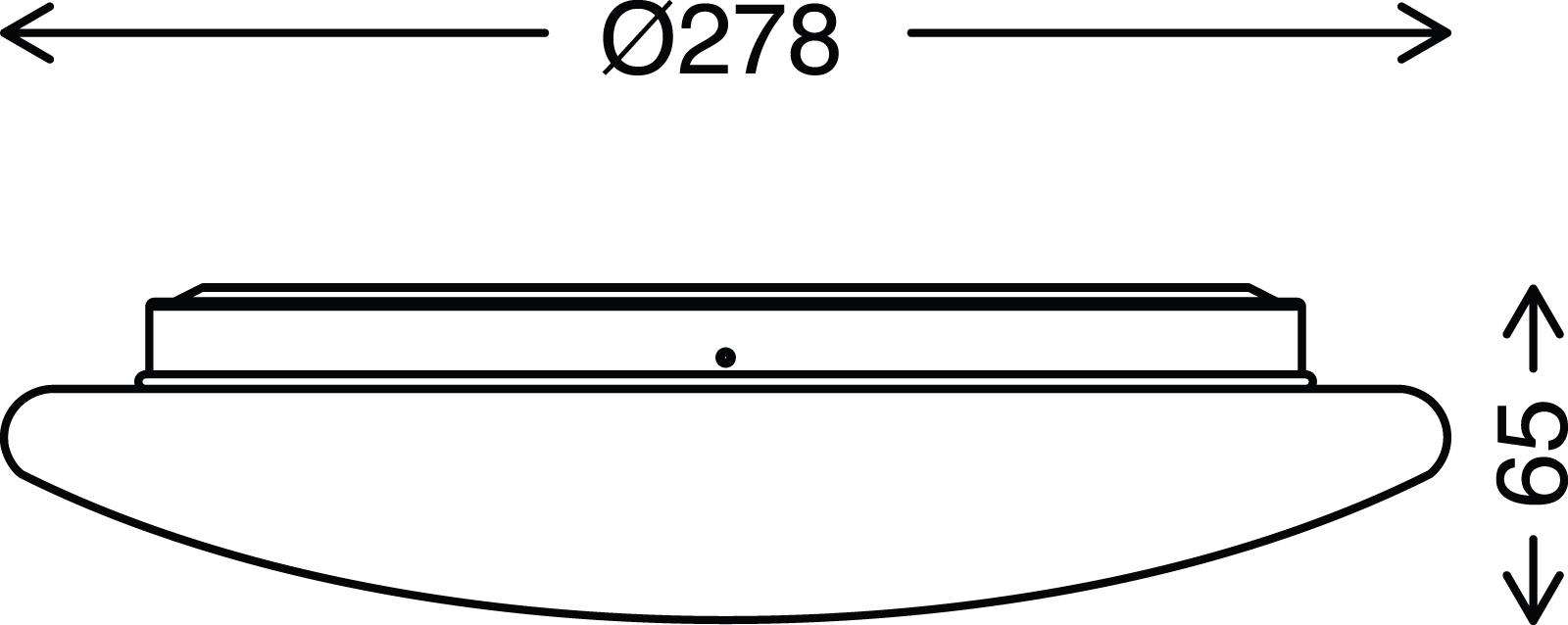 TELEFUNKEN LED Sensor Deckenleuchte, Ø 27,8 cm, 15 W, Weiss