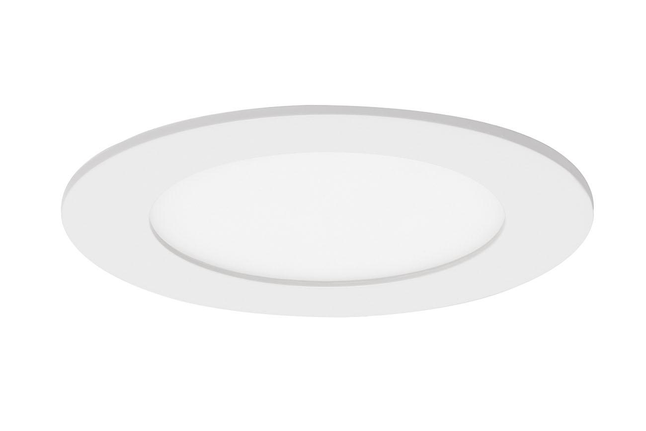3er Set LED Einbauleuchte, Ø 12 cm, 7 W, Weiß