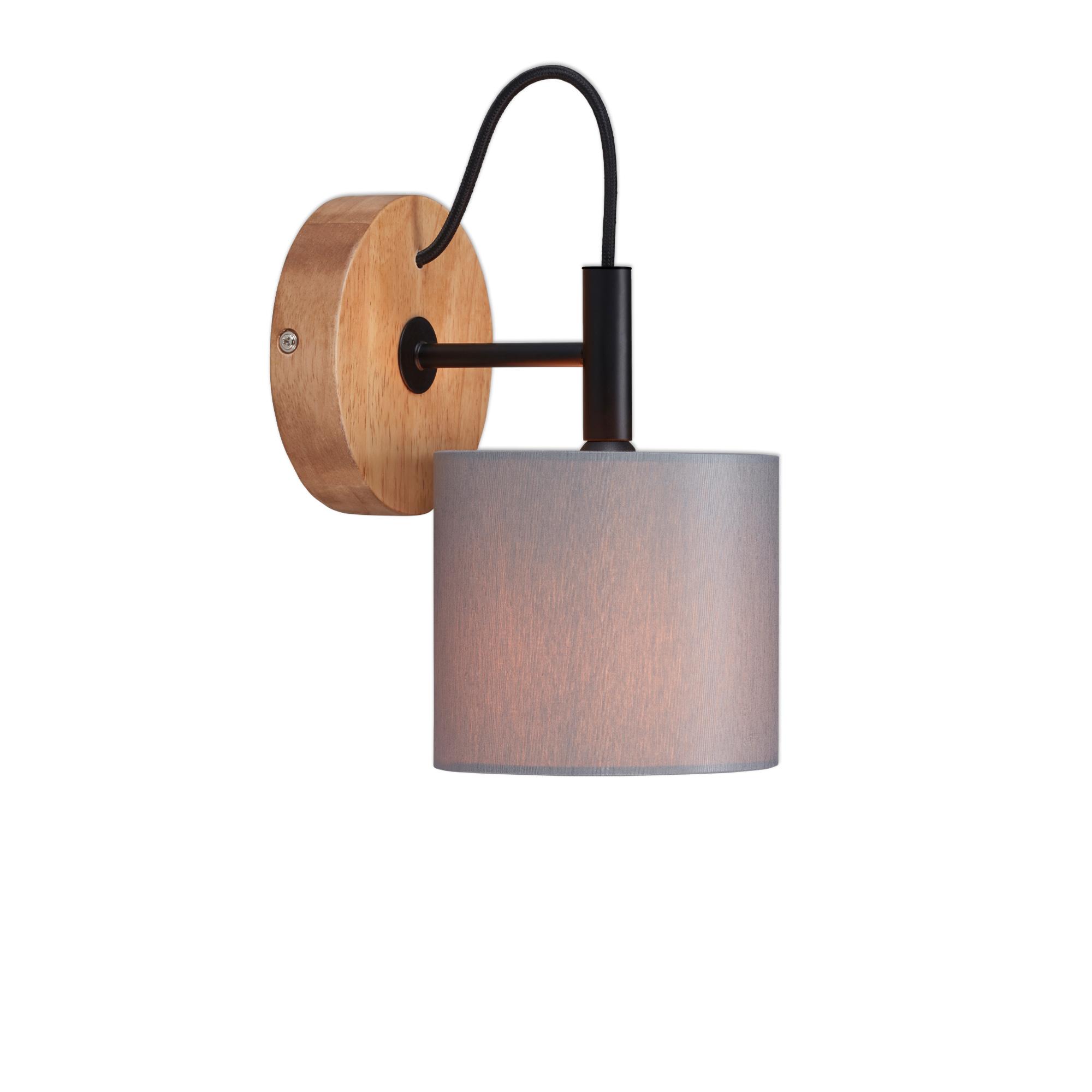 LED Spot Wandleuchte, Ø 12,5 cm, max. 25 W, Grau